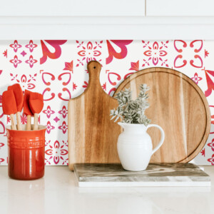 Crédence Adhésive Rouge Eau