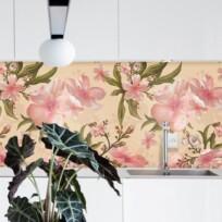 Crédence Adhésive Aquarelle Fleurie