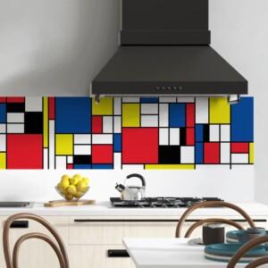 Crédence Adhésive Mondrian