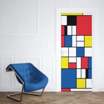 Sticker Porte Mondrian