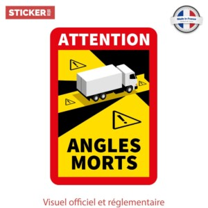 sticker angles morts camion