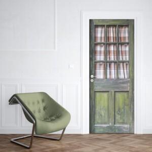 sticker bois vitrée vintage