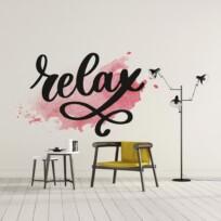 Sticker relax aquarelle