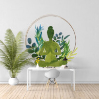 Sticker yoga vegetaux