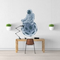 Sticker astronaute meditation