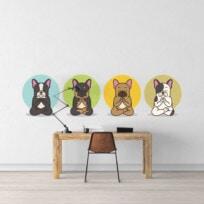 Sticker chiens zen