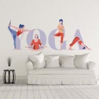 Sticker cour de yoga