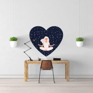Sticker yoga constellation