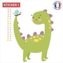 Sticker brachiosaure kawaii