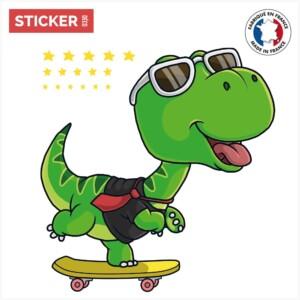 Sticker dinosaure skate