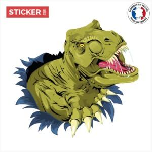 Sticker dinosaure trompe l oeil