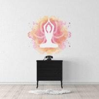 Sticker meditation aquarelle