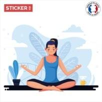 Sticker meditation flat