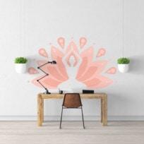Sticker meditation fleur