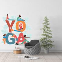 Sticker pratique du yoga flat