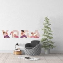 Sticker yoga femmes enceintes