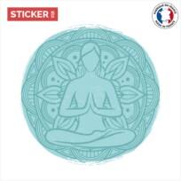 Sticker yoga peinture