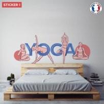 Sticker yoga style retro