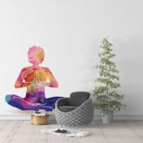 Sticker zen aquarelle