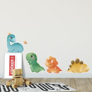 Stickers dinosaures kawaii
