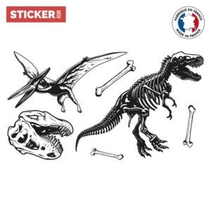 Stickers Dinosaures Noir & Blanc