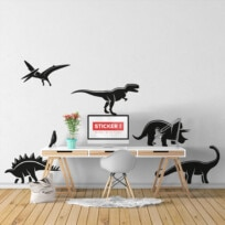 Stickers Dinosaures Silhouettes