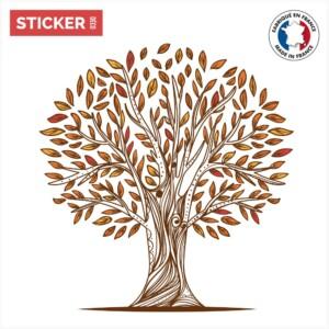 Sticker Arbre Automne Dessin