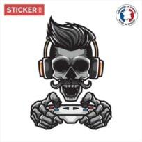 Sticker Gamer Squelette