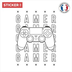 Sticker Jeux Video Manette