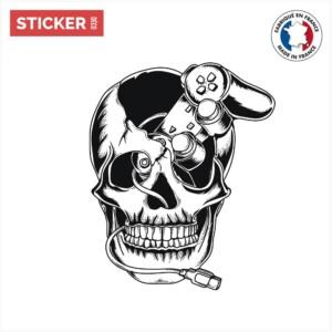 Sticker Jeux Video Tete De Mort