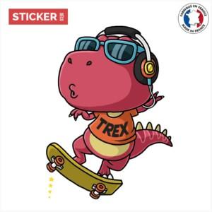 Sticker T-Rex Skate Cool
