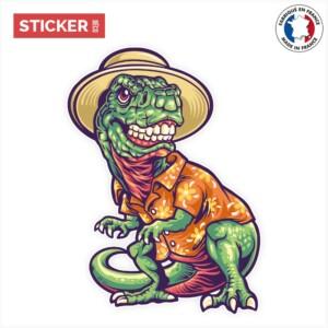 Sticker T-Rex Touriste