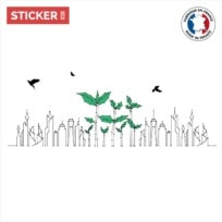 Sticker Verdure En Ville