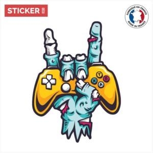 Sticker zombie manette