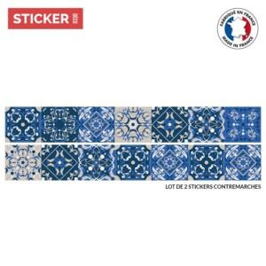 Stickers Escaliers Baroque Gris Bleu