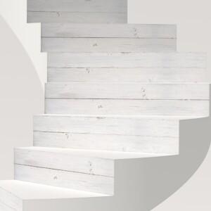 Stickers Escaliers Bois Blanc