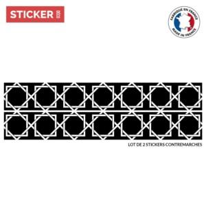 Stickers Escaliers Ornement Noir