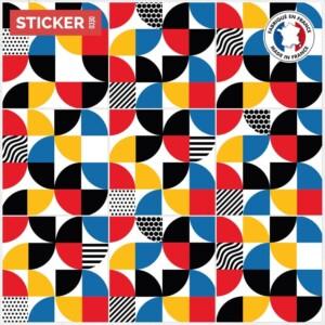 Stickers Sol Carreaux De Ciment Bauhaus