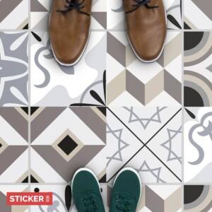Stickers Sol Carreaux De Ciment Elegant