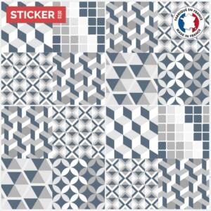 Stickers Sol Carreaux De Ciment Metro