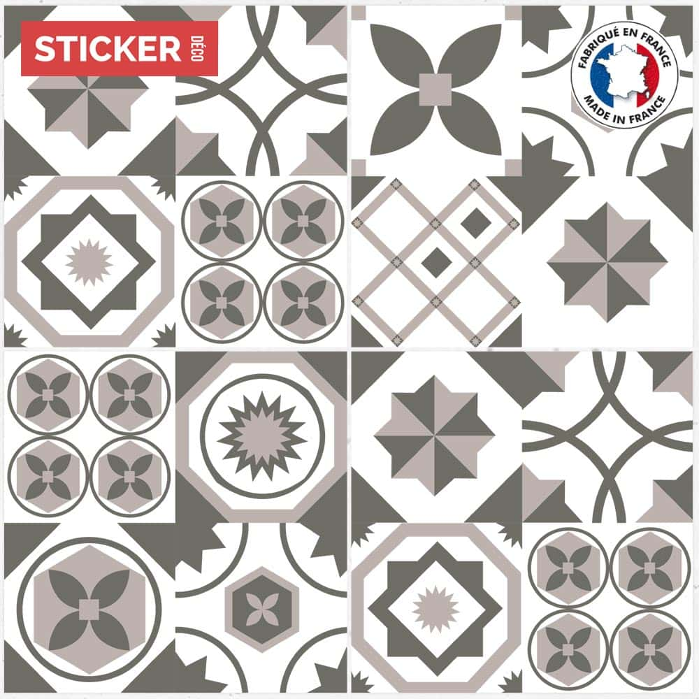 Stickers Sol Carreaux De Ciment Mosaique