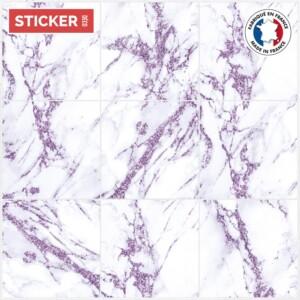 Stickers Sol Carrelage Marbre Violet