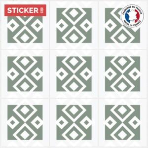 Stickers Sol Carrelage Vert Pale