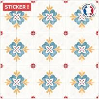 Stickers Sol Carrelage Vintage