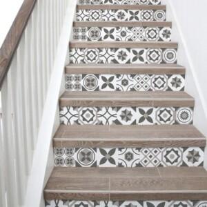 Stickers Escaliers Mosaïque