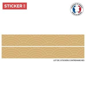 Stickers Escaliers Motif Uroko Moutarde