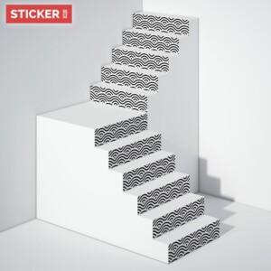 Stickers Escaliers Ornement Asiatique