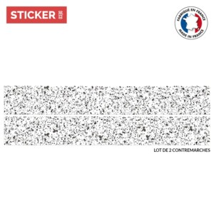 Stickers escaliers terrazzo gris