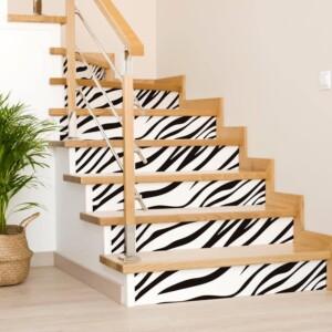 Stickers Escaliers Zebre