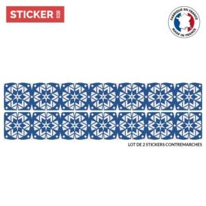 Stickers Escalier Zellige Bleu